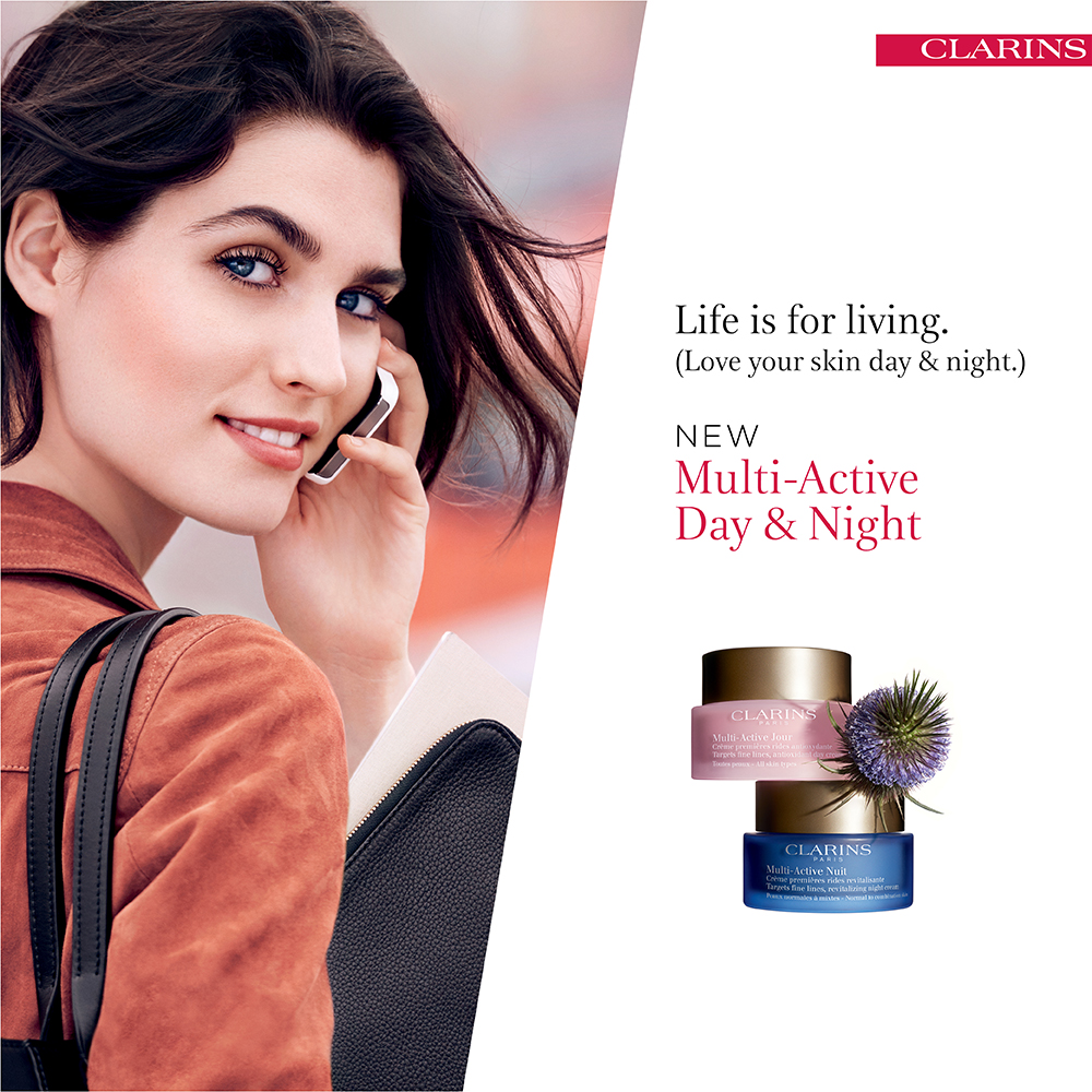 Clarins Multi-Active at Frontlinestyle Beauty salons