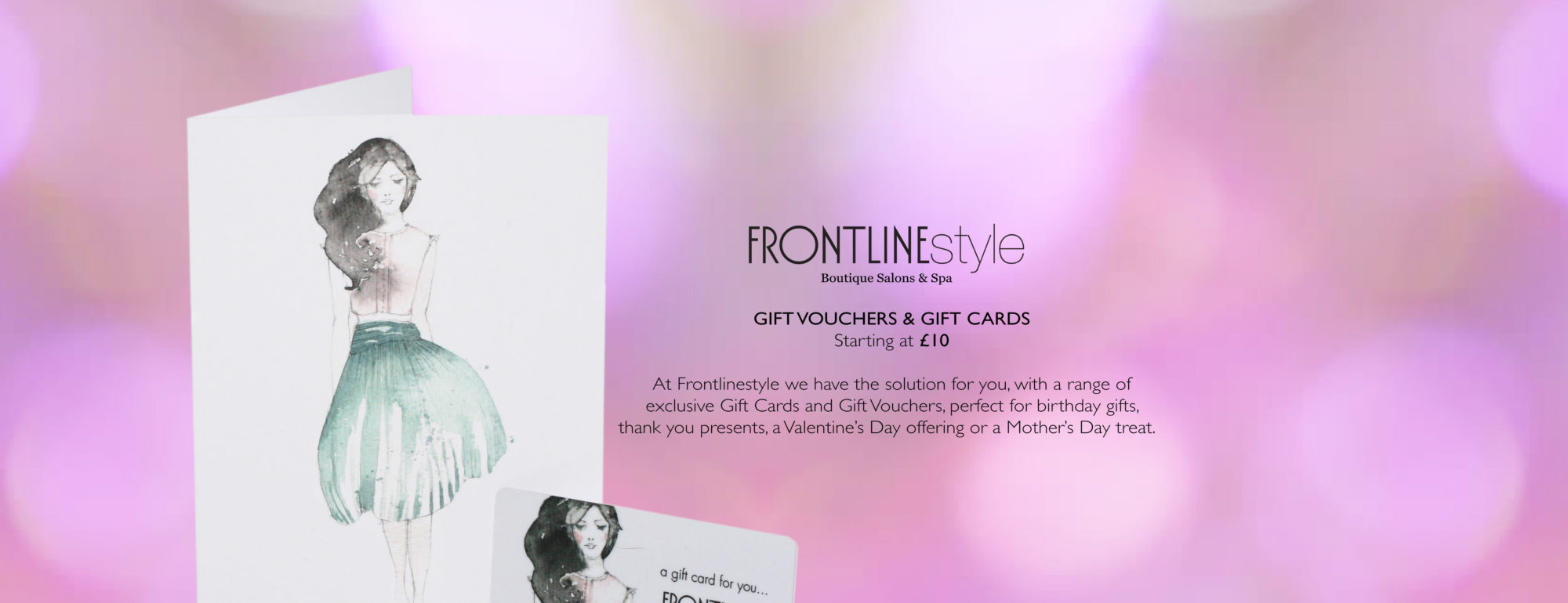 Gift Vouchers and Cards Available at Frontlinestyle