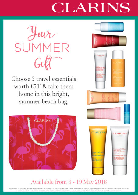 Clarins Summer Travel Offer At Frontlinestyle