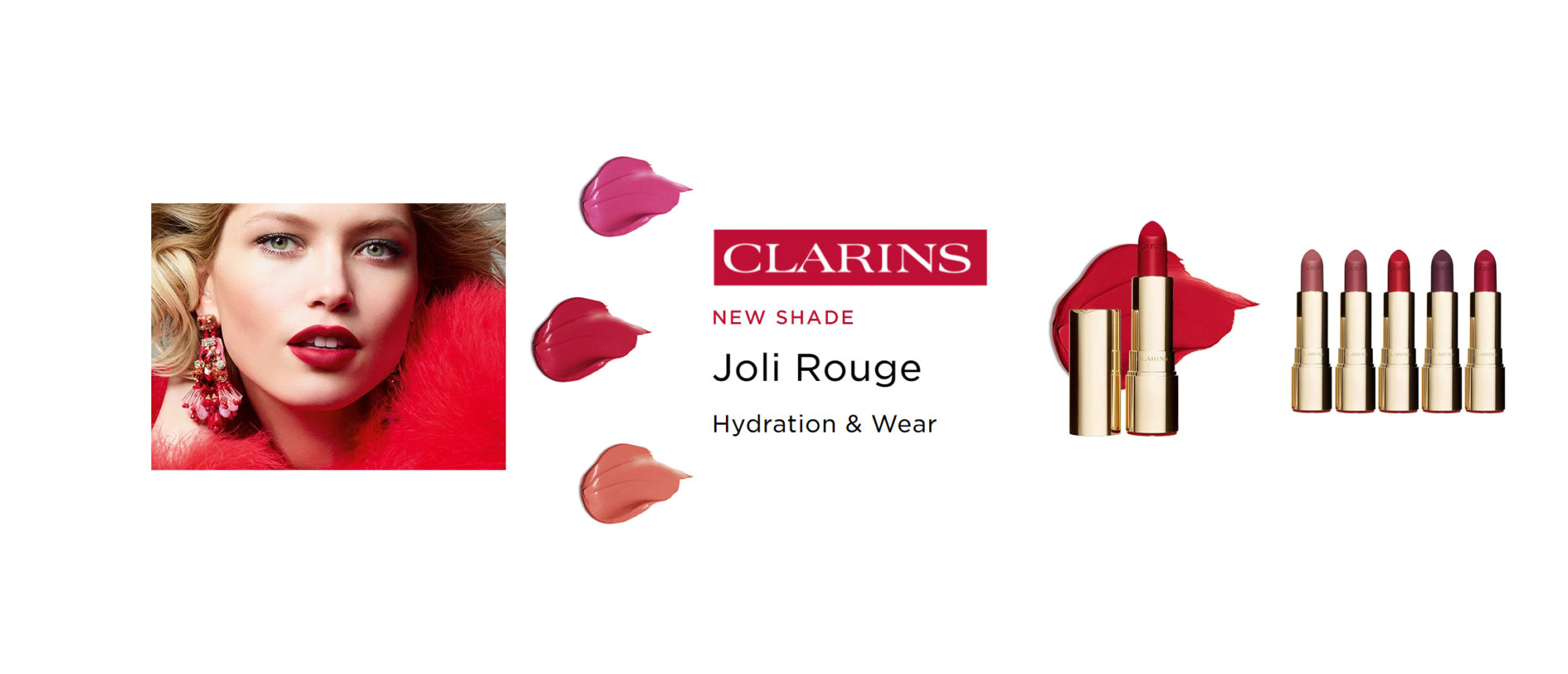Clarins New Jouli Rouge Lipsticks - NEW Collection