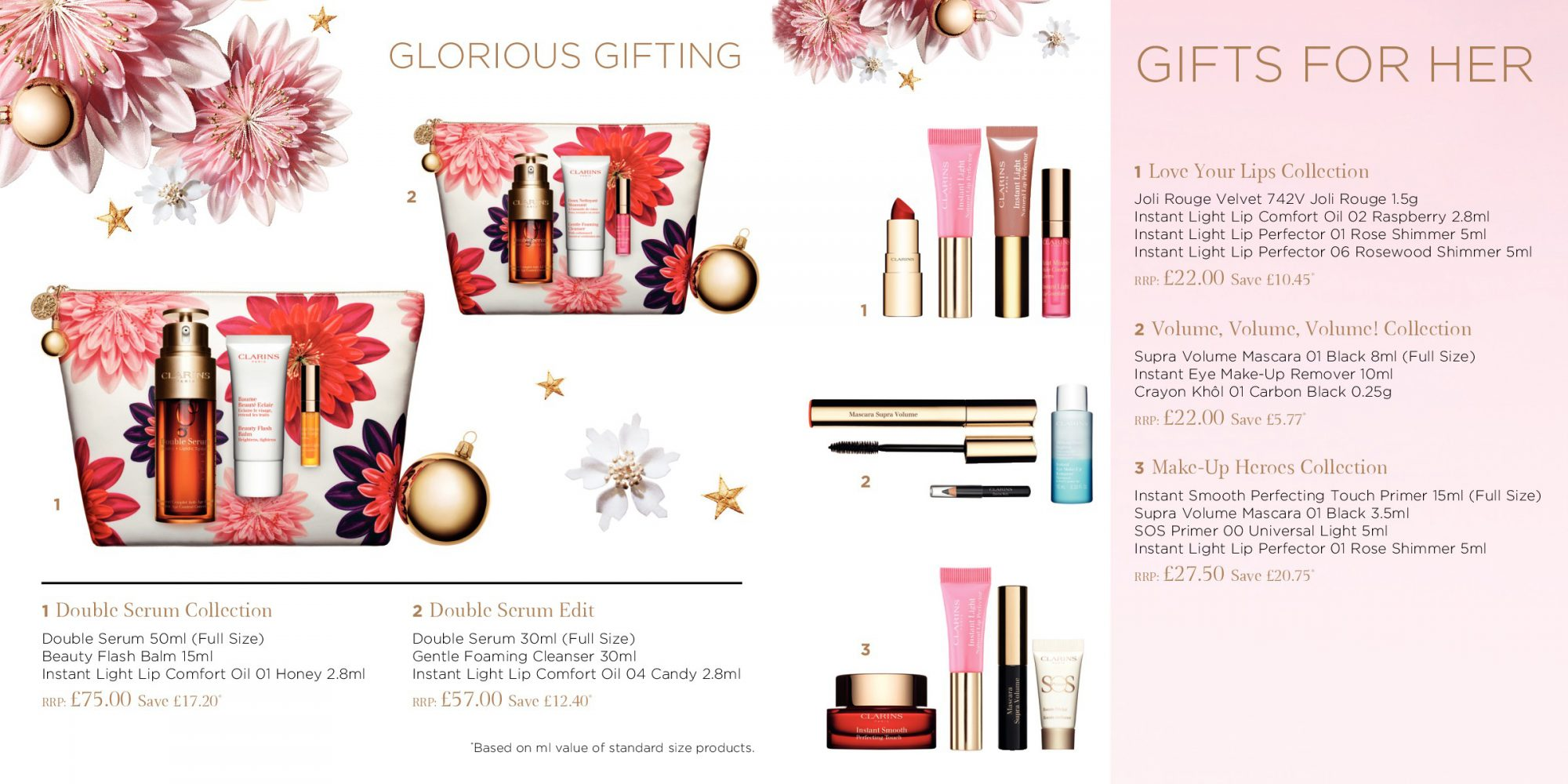Clarins Brochure Christmas Gifts Spread 3 - Glorious Gifting and Gifts for Her 2 2018