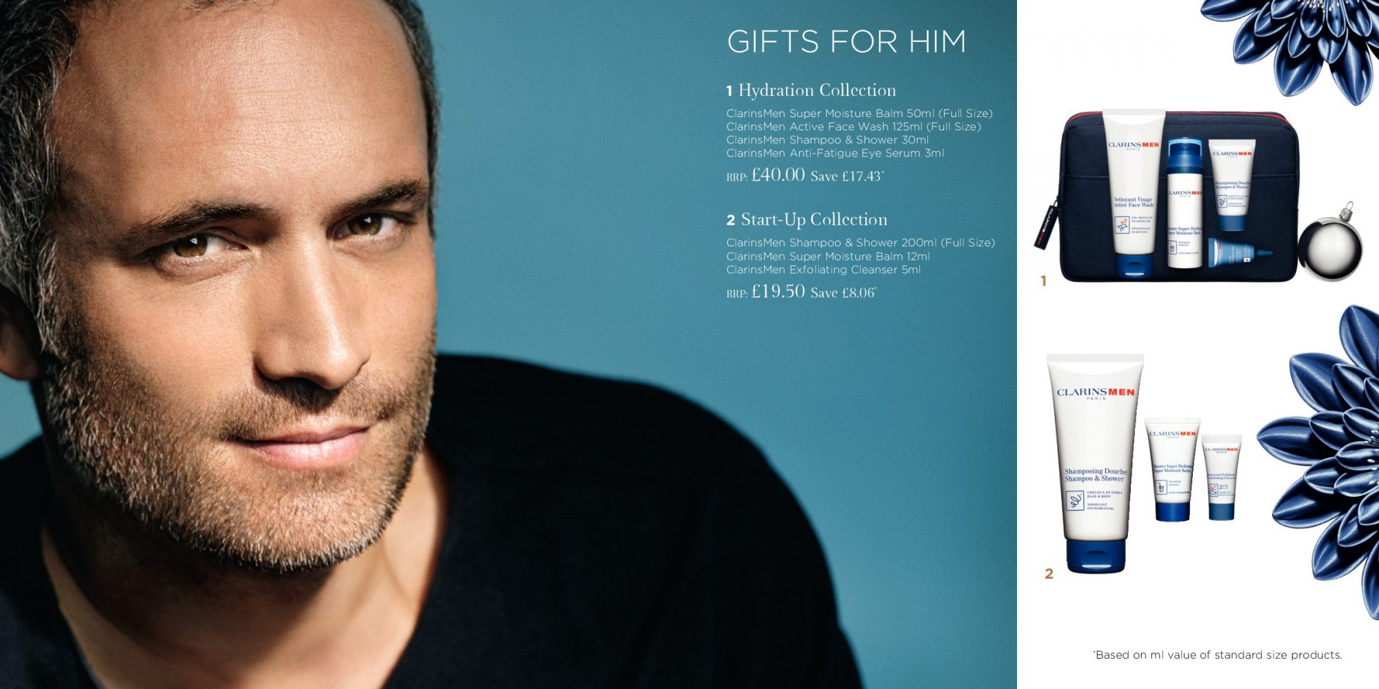 Clarins Brochure Christmas Gifts Spread 4 - Gift For Him Hydration Start-Up 2018