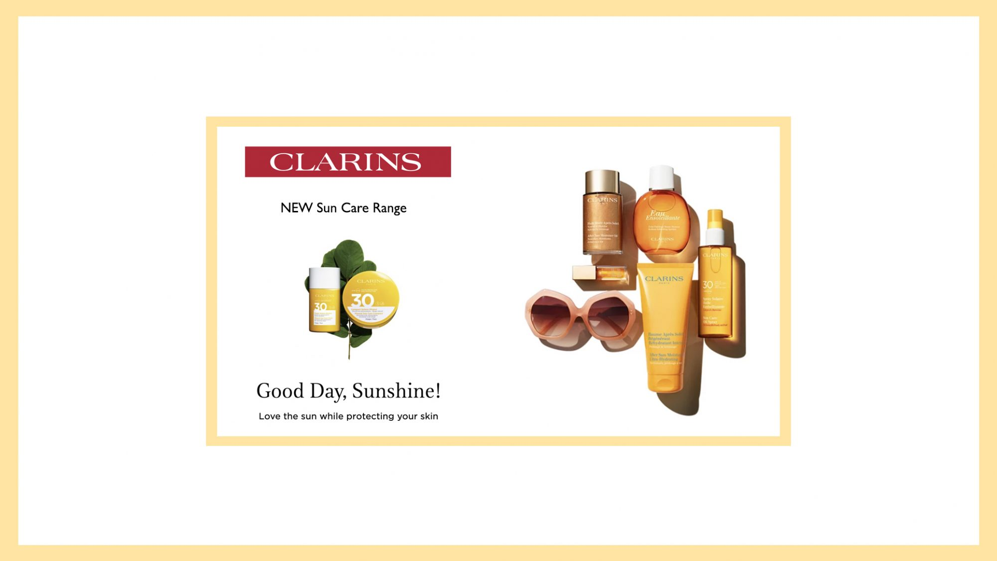 Clarins New Sun Care at Frontlinestyle
