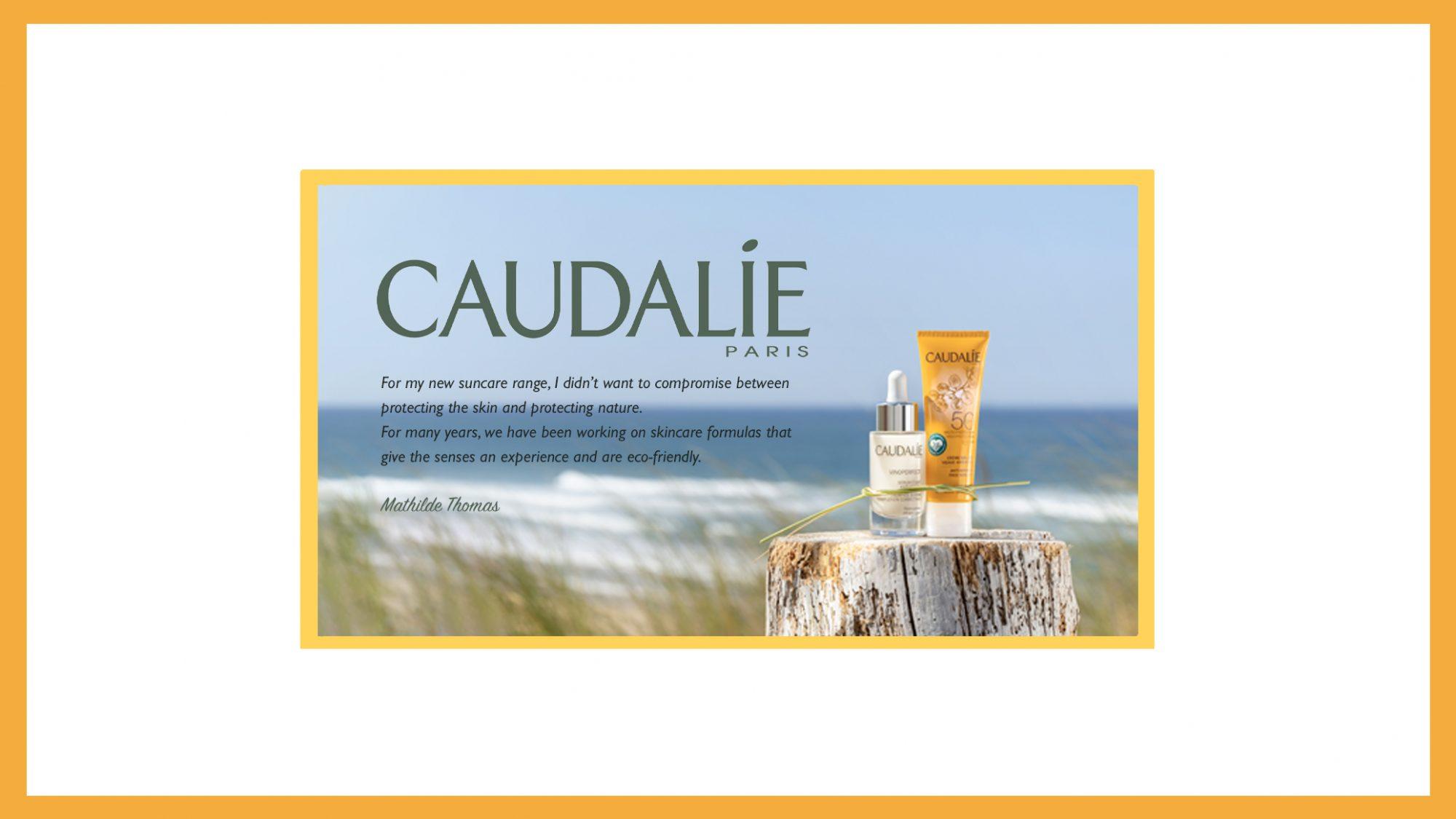 Caudalie New Suncare Range Banner Matilde Quote Border 2019