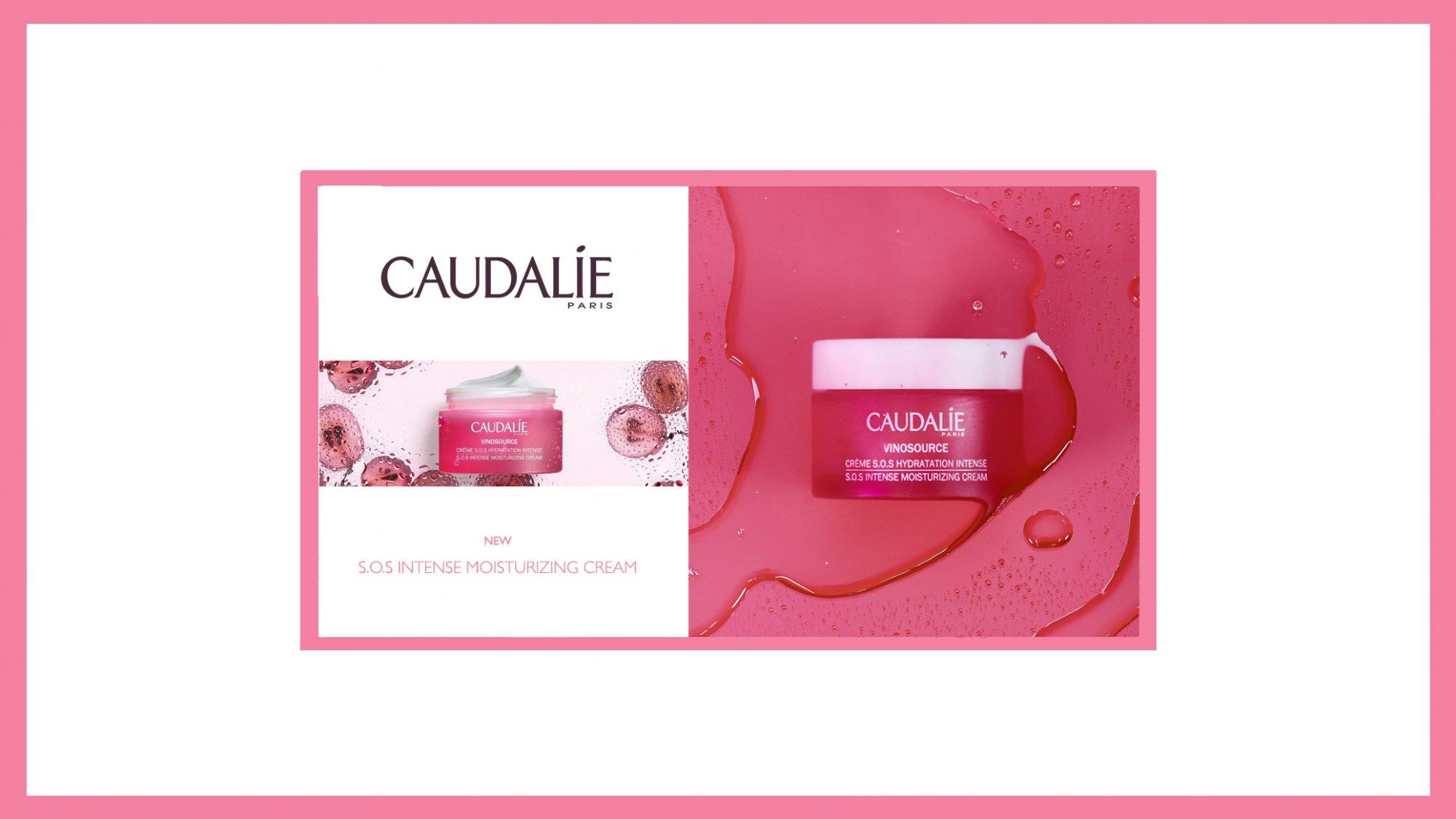 Caudalie SOS Intense Moisturizing Cream Pink Banner Visual 2019