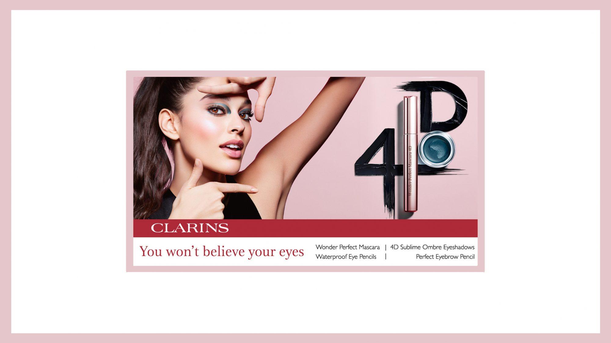 Clarins NEW 4D Mascara & Eyeshadow