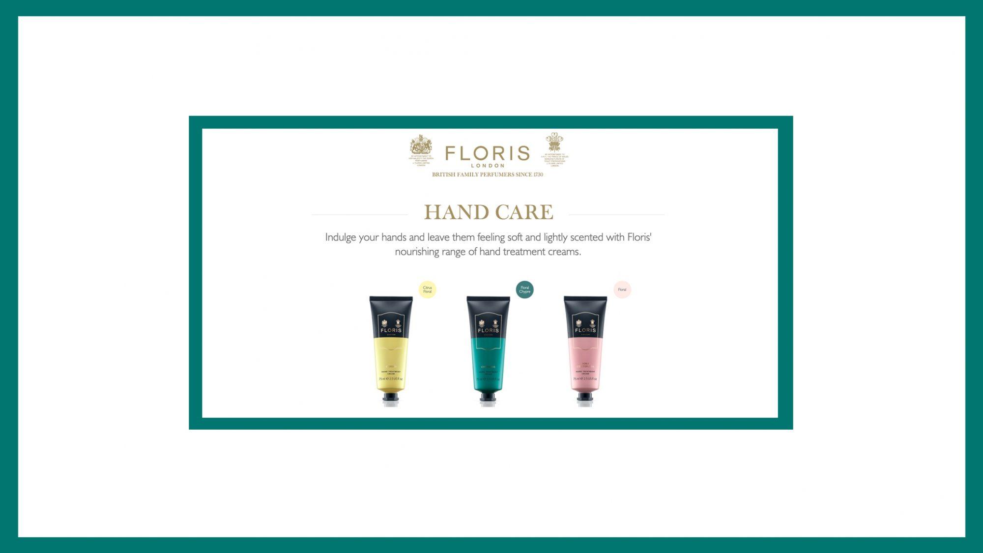 Floris Hand Cream Trio Banner 2019