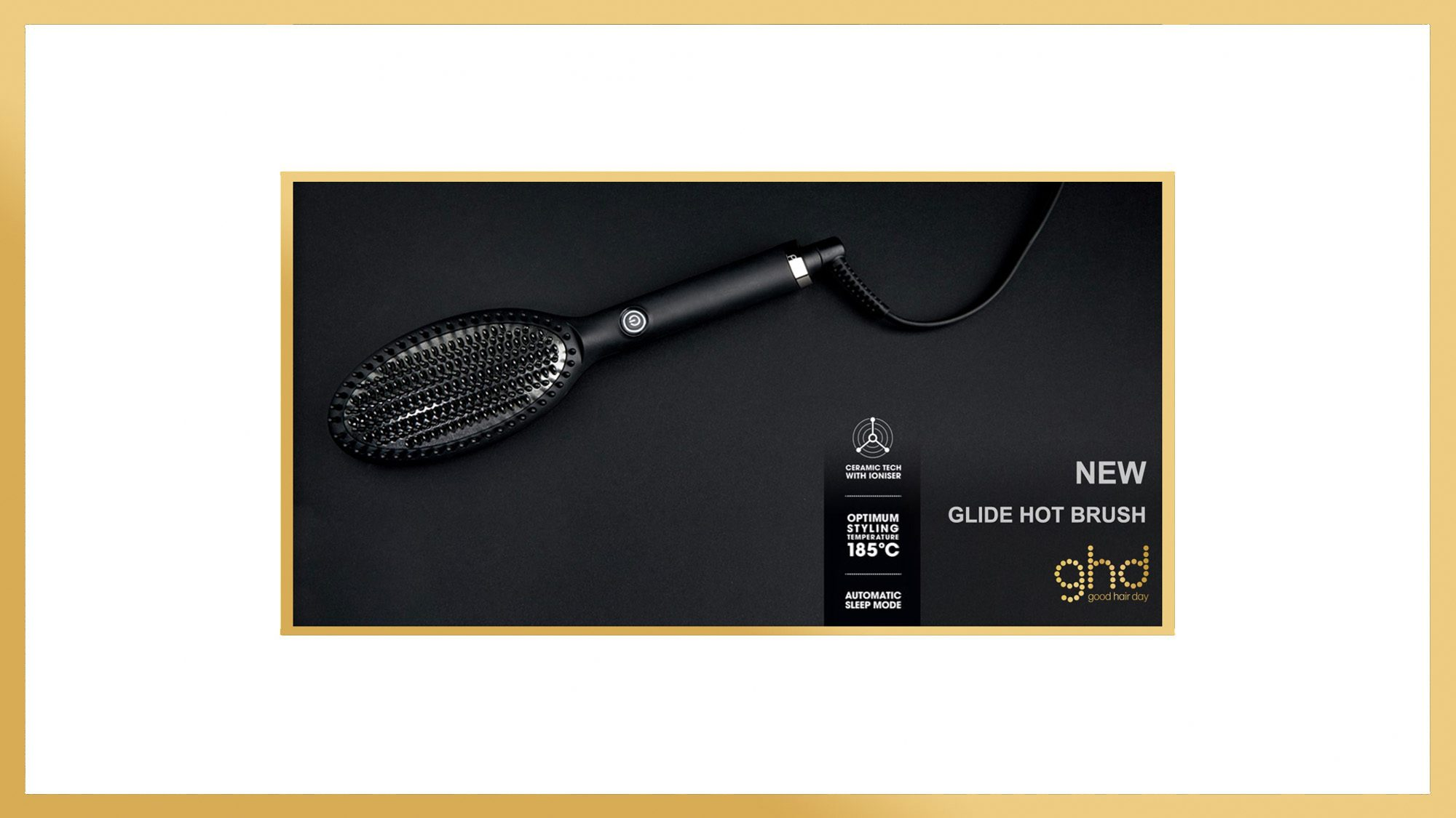 ghd Glide Hot Brush Style Gold Banner 2019
