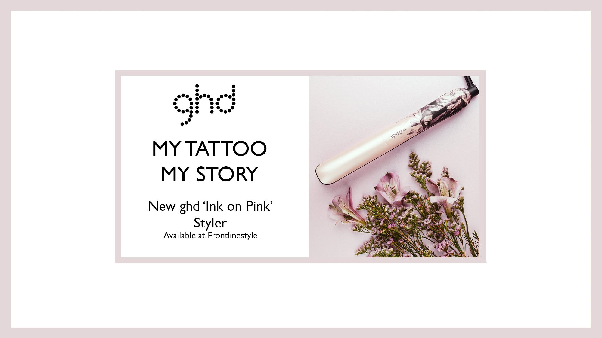 ghd NEW 'Ink On Pink' Styler
