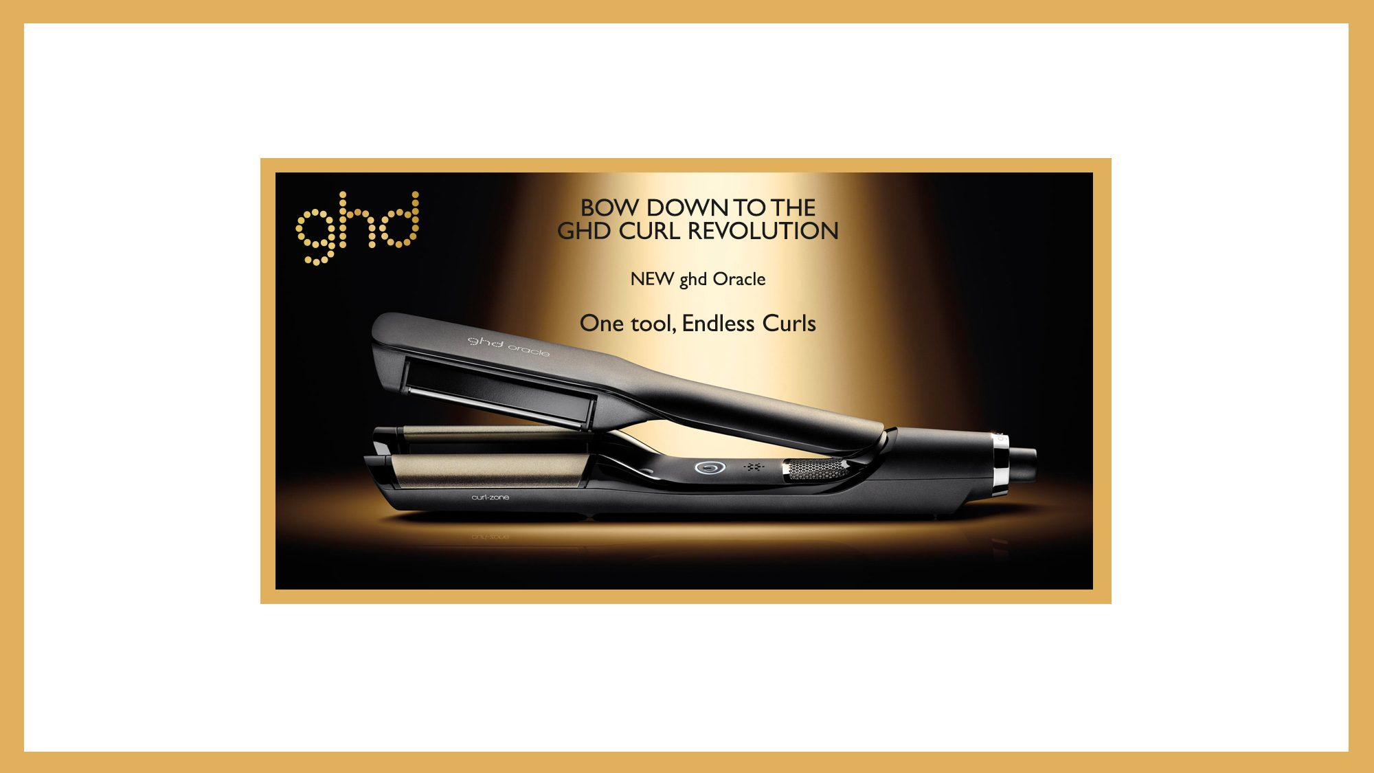 ghd Oracle Curler Promo Gold Banner 2019