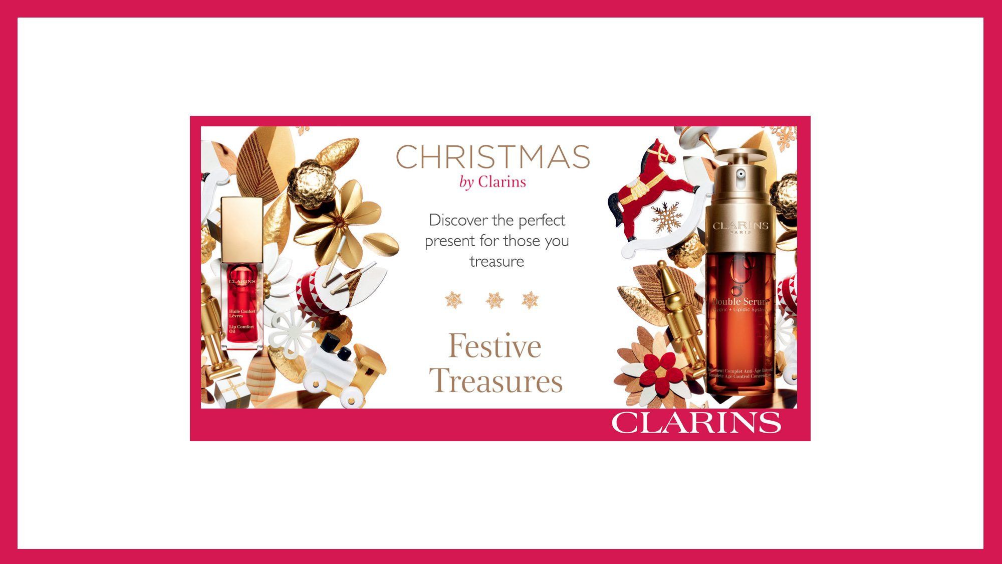 Clarins Christmas Treasures at Frontlinestyle