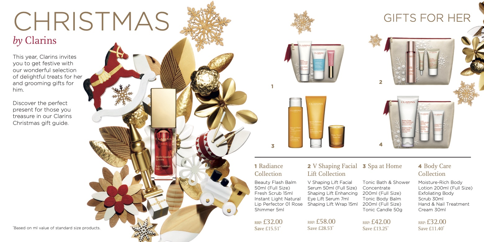 Clarins Christmas Wish List Brochure 2019 Page 2