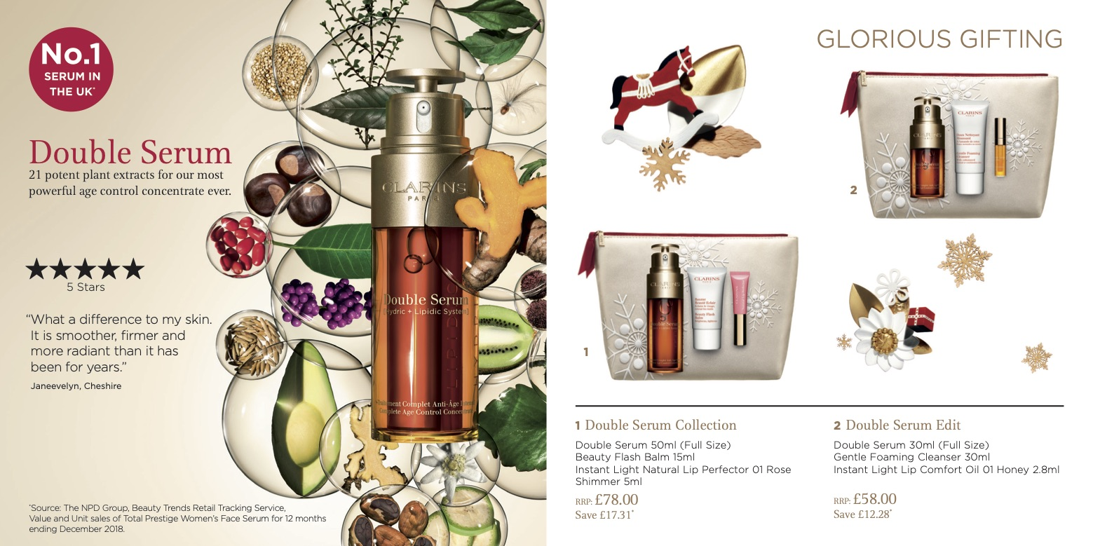 Clarins Christmas Wish List Brochure 2019 Page 4