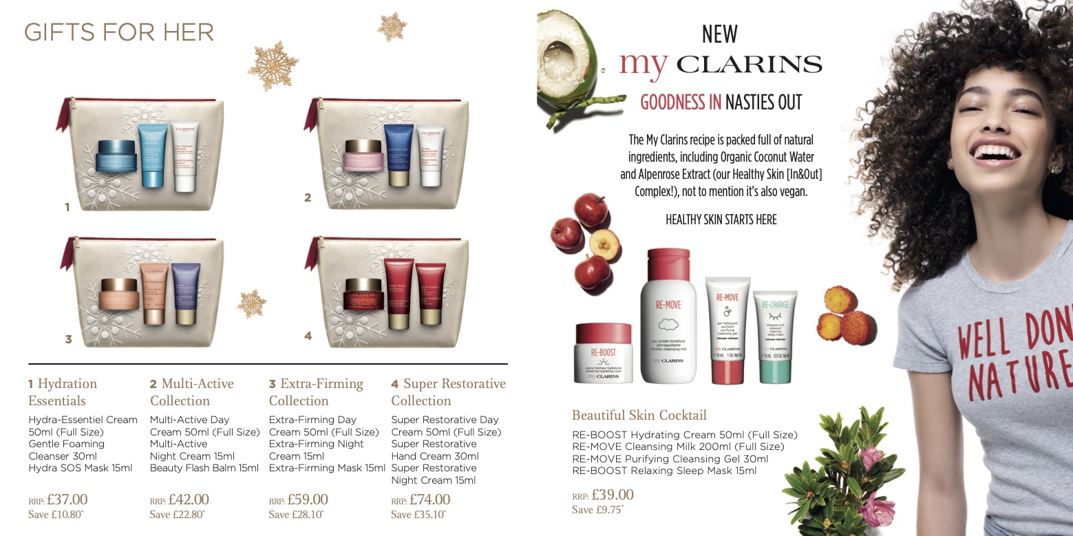 Clarins Christmas Wish List Brochure 2019 Page 5