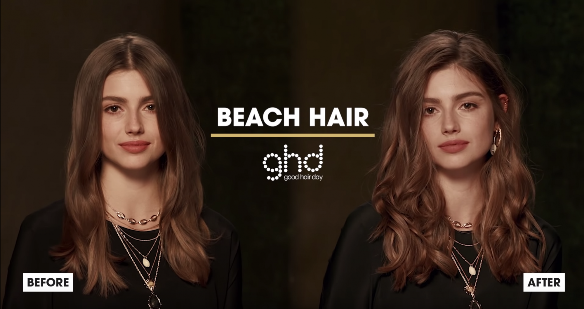 ghd Oracle Curler Before After Beach Hair Model 2019