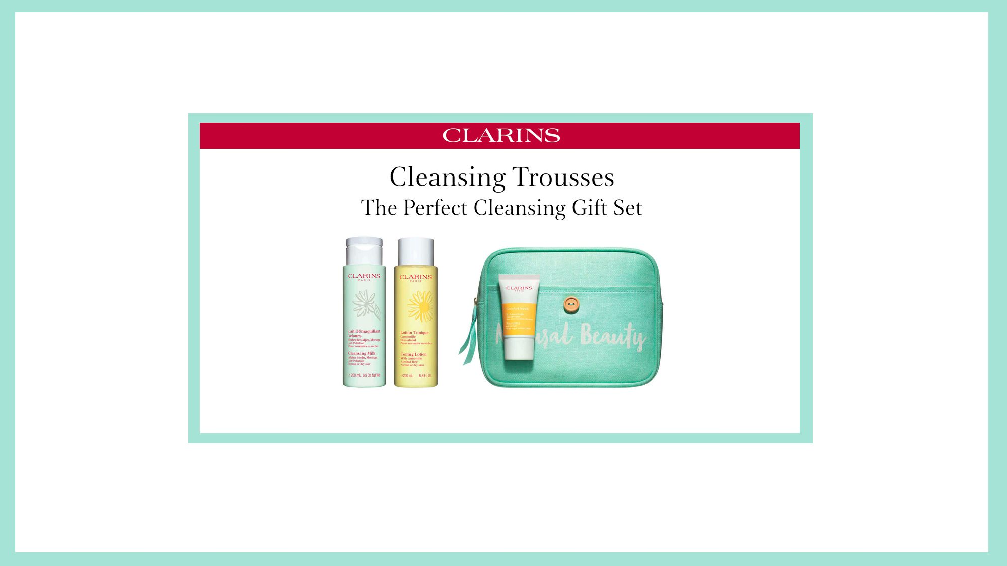 Clarins Cleaning Trousses Banner 2020